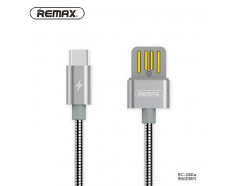 Кабель USB Type-C > USB  REMAX Silver Serpent Series (RC-080a) 1.0м Silver
