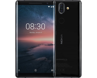 Смартфон Nokia 8 Sirocco 6/128Gb Black (TA-1005)
