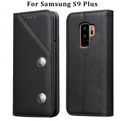 Чехол для смартфона Samsung Galaxy S9+  OEM Case Flip Cover PU Leather /black
