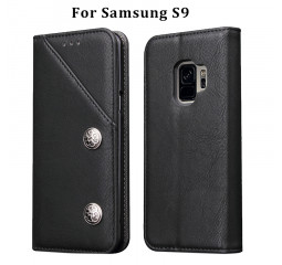 Чехол для смартфона Samsung Galaxy S9 OEM Case Flip Cover PU Leather Black