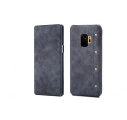 Чехол для смартфона Samsung Galaxy S9 OEM Hybrid Shield Flip Wallet PU Leather Gray