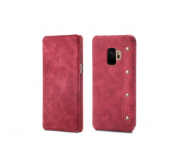 Чехол для смартфона Samsung Galaxy S9 OEM Hybrid Shield Flip Wallet PU Leather Red