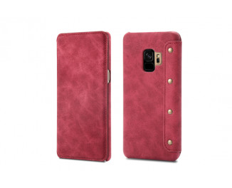 Чехол для смартфона Samsung Galaxy S9  OEM Hybrid Shield Flip Wallet PU Leather /red