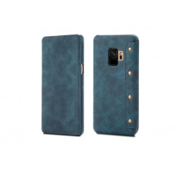 Чехол для смартфона Samsung Galaxy S9+  OEM Hybrid Shield Flip Wallet PU Leather /blue