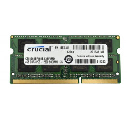 Память для ноутбука SO-DIMM DDR3 4 Gb (1600 MHz) Micron Crucial (CT51264BF160B)