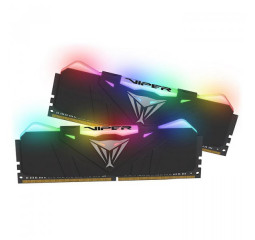 Оперативная память DDR4 16 Gb (3000 MHz) (Kit 8 Gb x 2) Patriot Viper RGB Black (PVR416G300C5K)