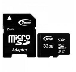 Карта памяти microSD 32Gb Team (TUSDH32GCL10U03) + SD адаптер
