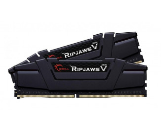 Оперативная память DDR4 32 Gb (3200 MHz) (Kit 16 Gb x 2) G.SKILL Ripjaws V Black (F4-3200C16D-32GVK)