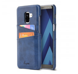 Чехол для смартфона Samsung Galaxy A8+ KEYSION Leather Cover /Blue