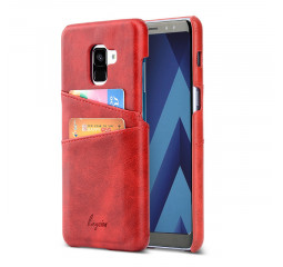 Чехол для смартфона Samsung Galaxy A8+ KEYSION Leather Cover /Red