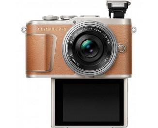 Беззеркальный фотоаппарат Olympus PEN E-PL9 KIT (14-42mm Pancake Zoom) Brown (V205092NE000)