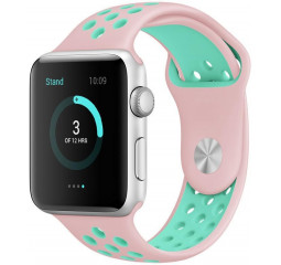 Силиконовый ремешок для Apple Watch 38/40 mm Sport Nike+ Vintage Rose/Turquoise