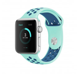 Силиконовый ремешок для Apple Watch 42/44 mm Sport Nike+ Turquoise/Midnight Blue