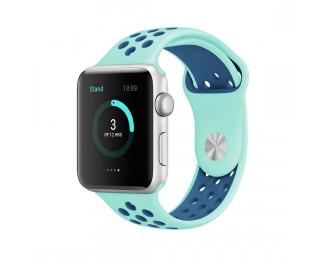 Силиконовый ремешок для Apple Watch 42/44 mm Sport Nike+ Turquoise/Midnight Blue