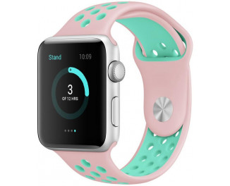 Силиконовый ремешок для Apple Watch 42/44 mm Sport Nike+ Vintage Rose/Turquoise
