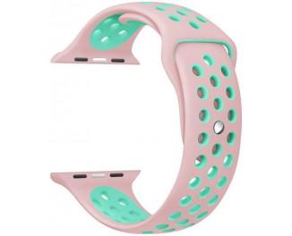 Силиконовый ремешок для Apple Watch 42/44 mm Sport Nike+ Vintage Rose/Turquoise