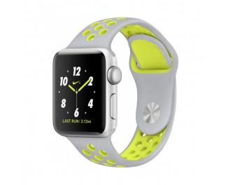 Силиконовый ремешок для Apple Watch 42/44 mm Sport Nike+ Silver/Volt