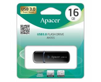 Флешка USB 3.0 16Gb Apacer AH355 Mysterious Black (AP16GAH355B-1)