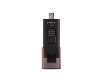 Флешка microUSB 16Gb PNY Duo-Link for Android Black (FD16GOTGX30K-EF)
