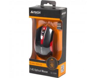 Мышь беспроводная A4Tech G3-200N Black+Red