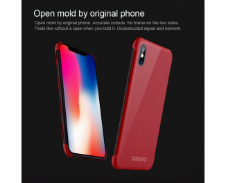 Чехол для Apple iPhone X NILLKIN Tempered Magnet /red