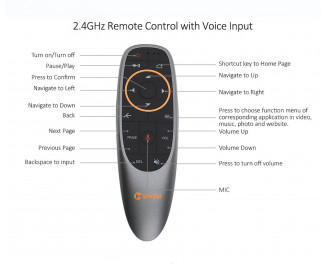 Унивеpсальный пульт ДУ VONTAR V10 Air Mouse (Gyroscope + Google Remote Control Voice)