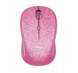 Мышь беспроводная Trust Yvi FX Wireless Mouse - pink (22336)