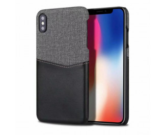 Чехол для Apple iPhone XS Max HOTR Leather & Cloth Case /black