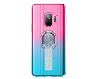 Чехол для смартфона Samsung Galaxy S9+ HOTR Gradient Ring Holder /pink blue