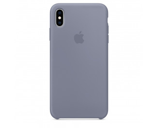 Чехол для Apple iPhone XS Max  Silicone Case /lavender gray