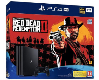 Приставка Sony Playstation 4 Pro 1Tb Black Red Dead Redemption 2