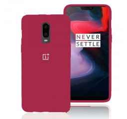 Чехол для смартфона OnePlus 6T  Soft Liquid Silicon Cover /red