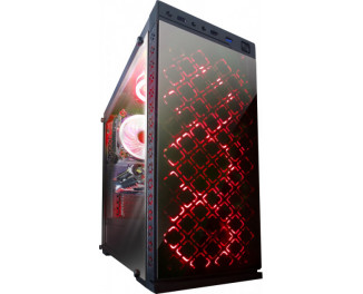 Корпус Frime Illusion Red LED (Illusion-U3-GLS-4RDRF)