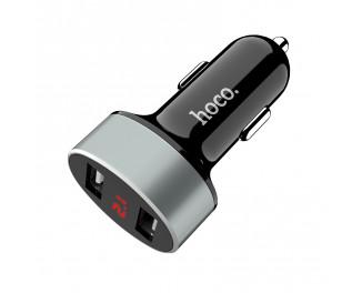 Автомобильное зарядное устройство HOCO Z26 High Praise Digital Display /black