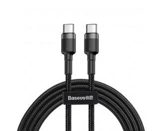 Кабель USB Type-C > USB Type-C  Baseus Cafule Series 1.0m /black&gray