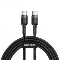 Кабель USB Type-C > USB Type-C  Baseus Cafule PD 2.0 60W 2.0m (CATKLF-HG1) /black&gray