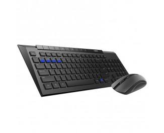 Клавиатура и мышь беспроводная Rapoo 8200M Black