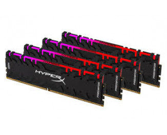 Оперативная память DDR4 32 Gb (3200 MHz) (Kit 8 Gb x 4) Kingston HyperX Predator RGB (HX432C16PB3AK4/32)