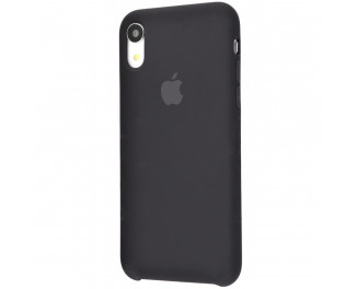 Чехол для Apple iPhone XR  Silicone Case (original quality) /black