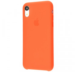 Чехол для Apple iPhone XR  Silicone Case (original quality) /nectarine
