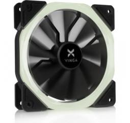 Кулер для корпуса Vinga LED fan-01 white