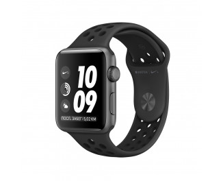 Смарт-часы Apple Watch Nike+ Series 3 GPS 38mm Space Gray Aluminum Case with Anthracite/Black Nike Sport Band (MTF12)