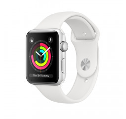 Смарт-часы Apple Watch Series 3 GPS 42mm Silver Aluminum Case with White Sport Band (MTF22)