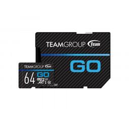 Карта памяти microSD 64Gb Team GO R90/W45MB/s UHS-I/U3 (TGUSDX64GU303) + SD адаптер