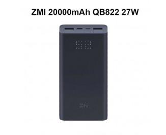 Портативный аккумулятор ZMi Aura Power Bank 20000mAh Type-C Black (QB822)