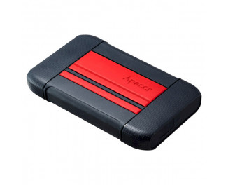 Внешний жесткий диск 2 TB Apacer AC633 Power Red X Tough Black (AP2TBAC633R-1)