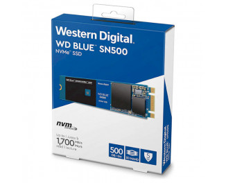 SSD накопитель 500Gb WD Blue SN500 NVMe PCIe 3.0 x2 2280 TLC (WDS500G1B0C)