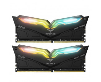 Оперативная память DDR4 32 Gb (3200 MHz) (Kit 16 Gb x 2) Team T-Force Night Hawk RGB Black (TF1D432G3200HC16CDC01)