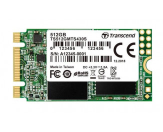 SSD накопитель 512Gb Transcend MTS430S M.2 2242 (TS512GMTS430S)