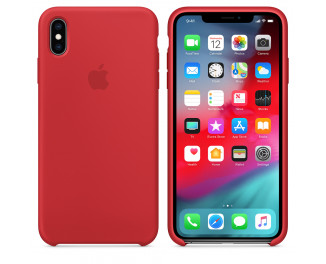 Чехол для Apple iPhone XS  Apple Silicone Case (PRODUCT) RED (MRWC2)